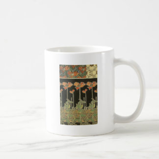 Alphonse Mucha Vintage Popular Art Nouveau Poppies Coffee Mug