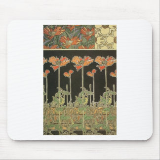 Alphonse Mucha Vintage Popular Art Nouveau Poppies Mouse Pad