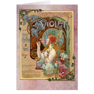 Alphonse Mucha Violet Perfume French Ad Card