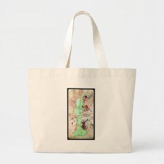 Alphonse Mucha Winter II Large Tote Bag