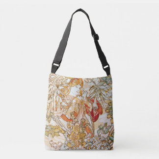 Alphonse Mucha Woman with a Daisy Art Nouveau Crossbody Bag