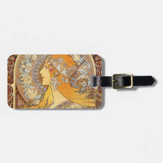 Alphonse Mucha Zodiac Art Nouveau Woman Luggage Tag