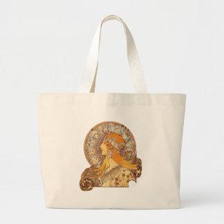 Alphonse Mucha - Zodiac Jumbo Tote Bag
