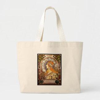 Alphonse Mucha Zodiac Large Tote Bag