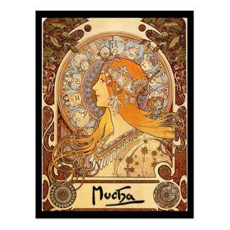 Alphonse Mucha - Zodiac Post Cards