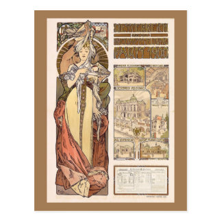 Alphonse Mucha's Austria at the World Expo Postcard