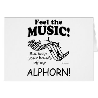 Alphorn Feel The Music Card