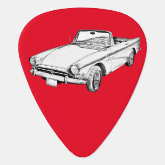 Alpine 5 Sports Car Illustration Plectrum