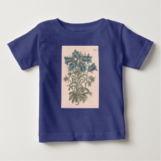 Alpine Bell Flower Botanical Illustration Baby T-Shirt