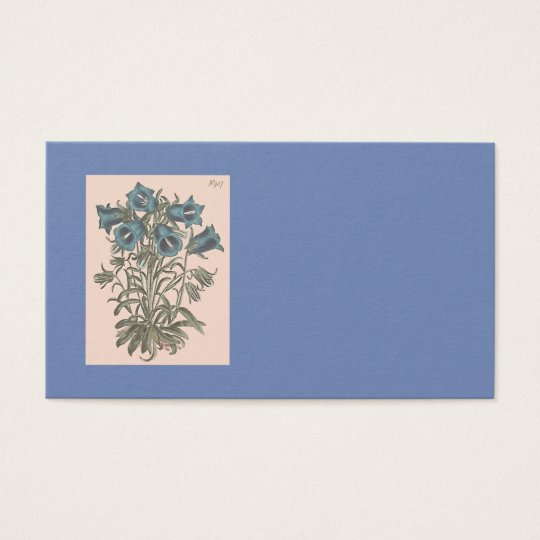 Alpine Bell Flower Botanical Illustration Business Card