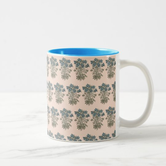 Alpine Bell Flower Botanical Illustration Two-Tone Coffee Mug