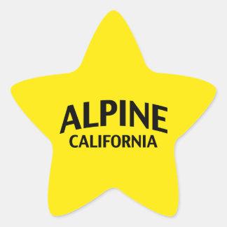 Alpine California Star Sticker