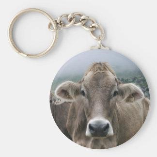 Alpine cow keyring