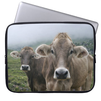 Alpine cow laptop sleeve