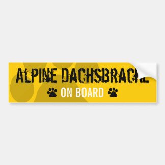 Alpine Dachsbracke on Board Bumper Sticker