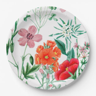 Alpine Flowers Garden Party Paper Plates