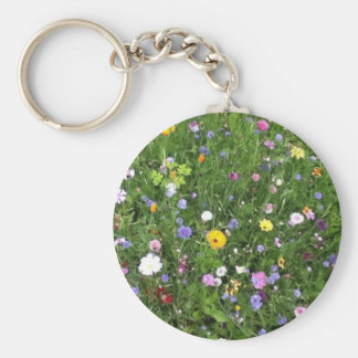 Alpine Flowers Key Ring