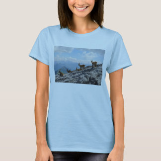 Alpine Ibex Wild Mountain Goats T-Shirt