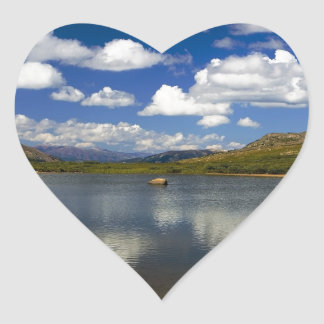 Alpine Lake on the Continental Divide Heart Sticker