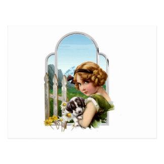 Alpine Maid Postcard