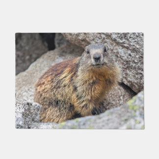 Alpine Marmot Door Mat