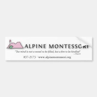 Alpine Montessori Bumper sticker