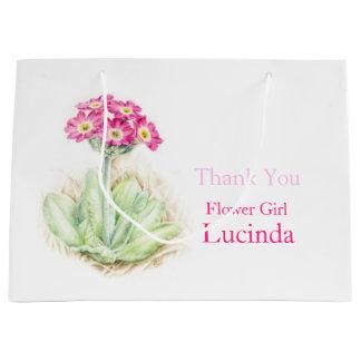 Alpine primrose pink flower girl favor gift bag