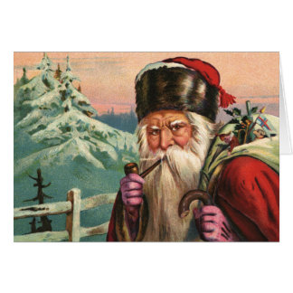 Alpine Santa Greeting Card