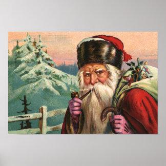 Alpine Santa Poster