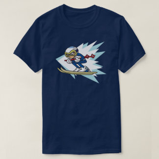 Alpine Skier anime style illustration Winter Games T-Shirt