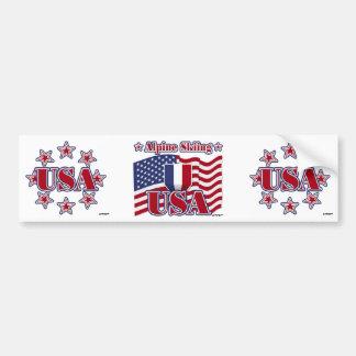 Alpine Skiing USA Bumper Sticker
