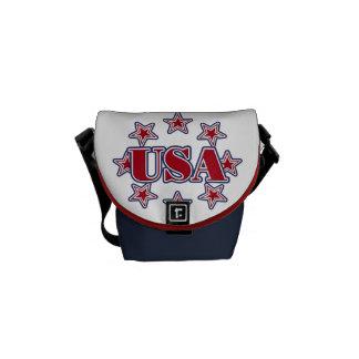 Alpine Skiing USA Messenger Bags