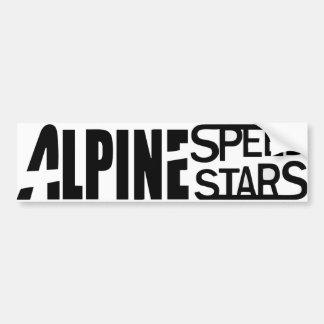 Alpine Speed Stars - Bumper Sticker