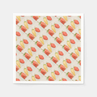Alpine Strawberry Trio Disposable Napkins