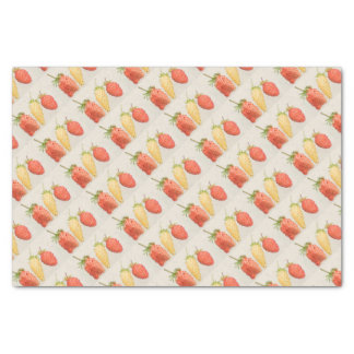 Alpine Strawberry Trio Tissue Paper