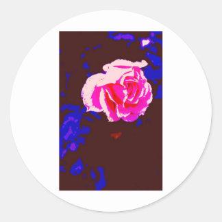 Alpine Sunset Chintz Rose Round Sticker