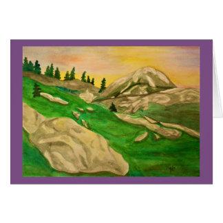 Alpine Sunset Watercolor Card