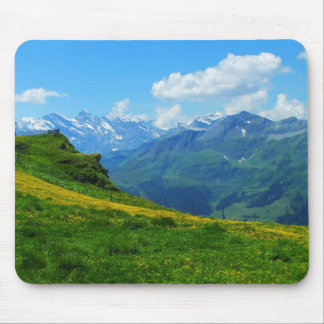 Alpine view in Switzerland Mouse Pad