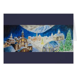 Alpine Village Christmas Card