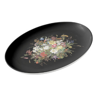 Alpine Wildflower Flower Edelweiss Serving Platter