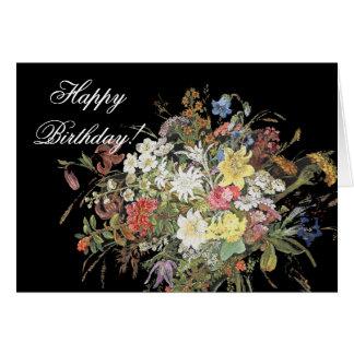 Alpine Wildflower Flowers Birthday Card