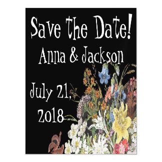 Alpine Wildflower Flowers Save Date Magnetic Card Magnetic Invitations