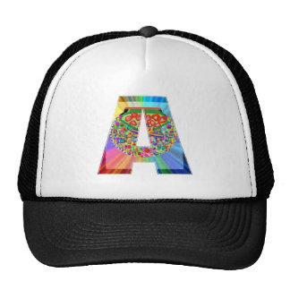 Alplhabet Soup A - Decorative Vowels Consonents Mesh Hats