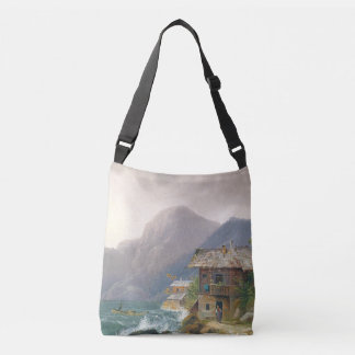 Alps Lake Cabin Family Mountains Home Tote Bag