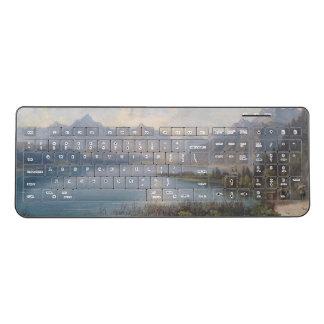 Alps Lake Mountains Wilderness Wireless Keyboard