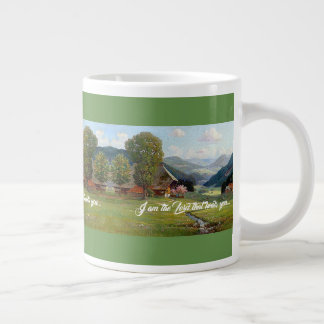 Alps Meadow Stream God Heals You Jumbo Mug