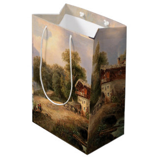 Alps Mountains Chalet River Cabin Gift Bag