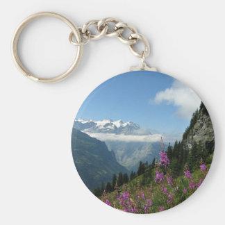 Alps, Mountains Key Ring