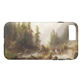 Alps River Bridge Hiker Wilderness iPhone  Case