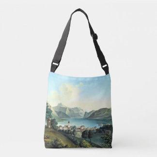 Alps Town Lake Mountains Europe Tote Bag